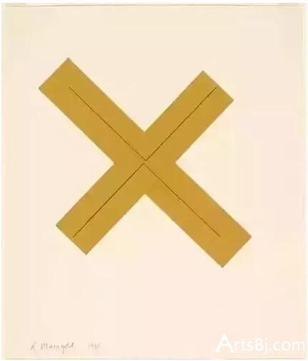 格沃尔夫妇藏品:罗伯特·曼戈尔德《无题 》,1980年