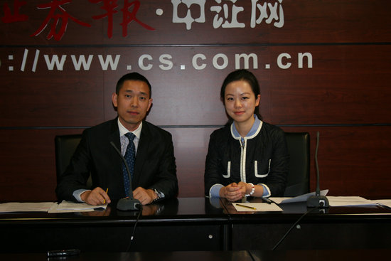 华富策略精选基金经理刘文正先生(左)和泰信先行策略基金经理袁园