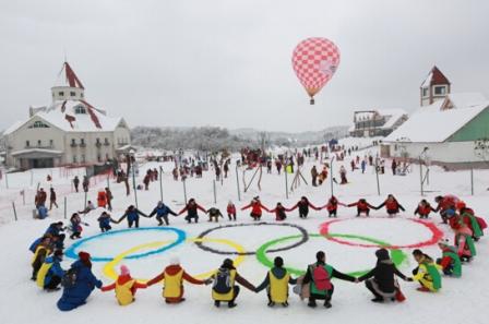 西岭涂鸦 献礼冬奥 雪地绘画公益活动