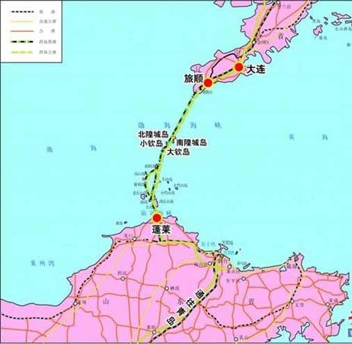 到烟台的距离,还可以实现大连直达上海高铁的互联